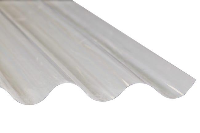 Plaque De Toiture Petite Onde Polyester Translucide L 0 9 X L 2 5 M Leroy Merlin