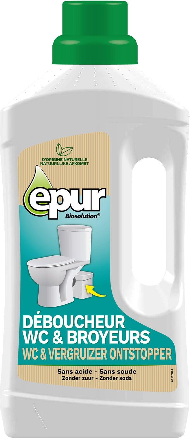Tableau Pour Mettre Dans Les Toilettes déboucheur pour wc et broyeur epur, 1 l