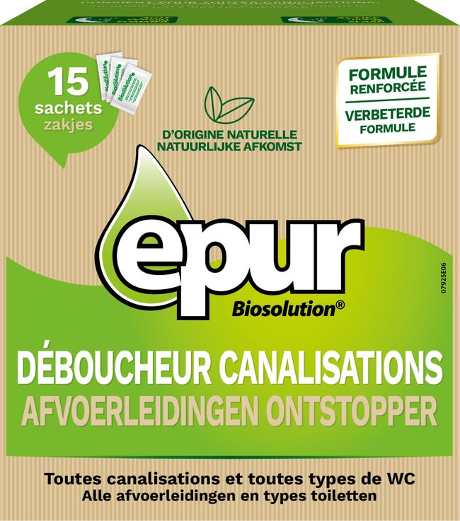 Déboucheur Pour Canalisation De Wc 15 Sachets Epur