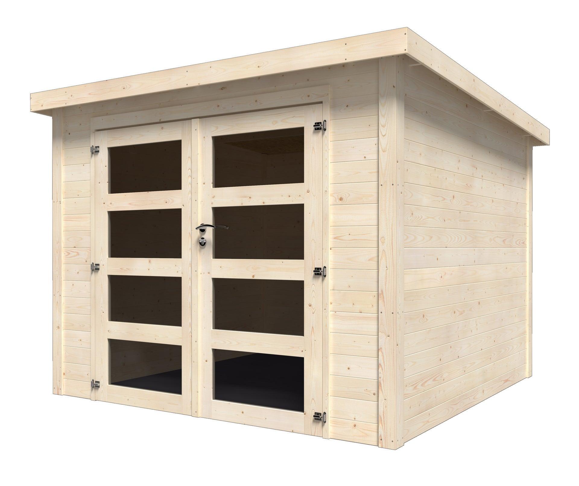 Abri de jardin bois NATERIAL Kuta axess Ep.8 mm, 8.8 m²