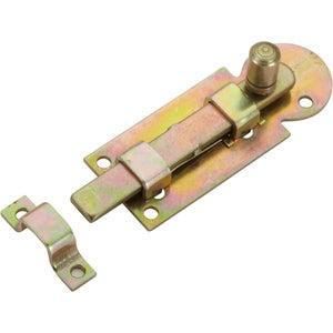Image : Verrou à poussoir acier HETTICH, L.60 x l.23 mm