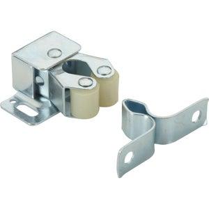 Image : Lot de 2 loqueteaux à pression acier HETTICH, L.28 x l.33 mm