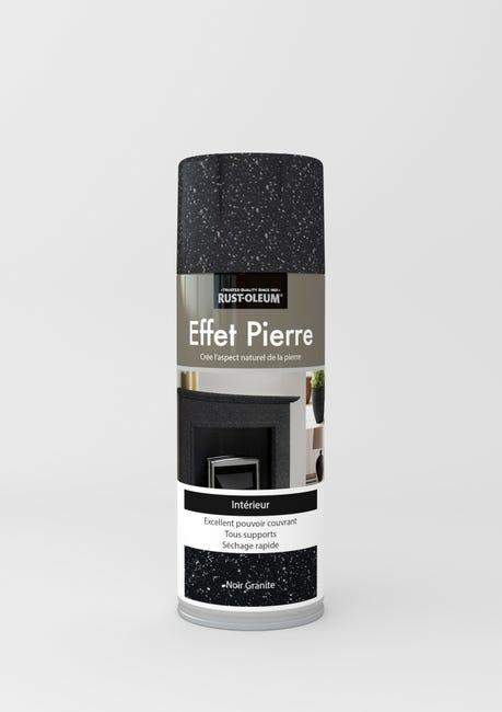 Peinture Aerosol Effet Pierre Pierre Rustoleum Noir Granit 0 4 L Leroy Merlin