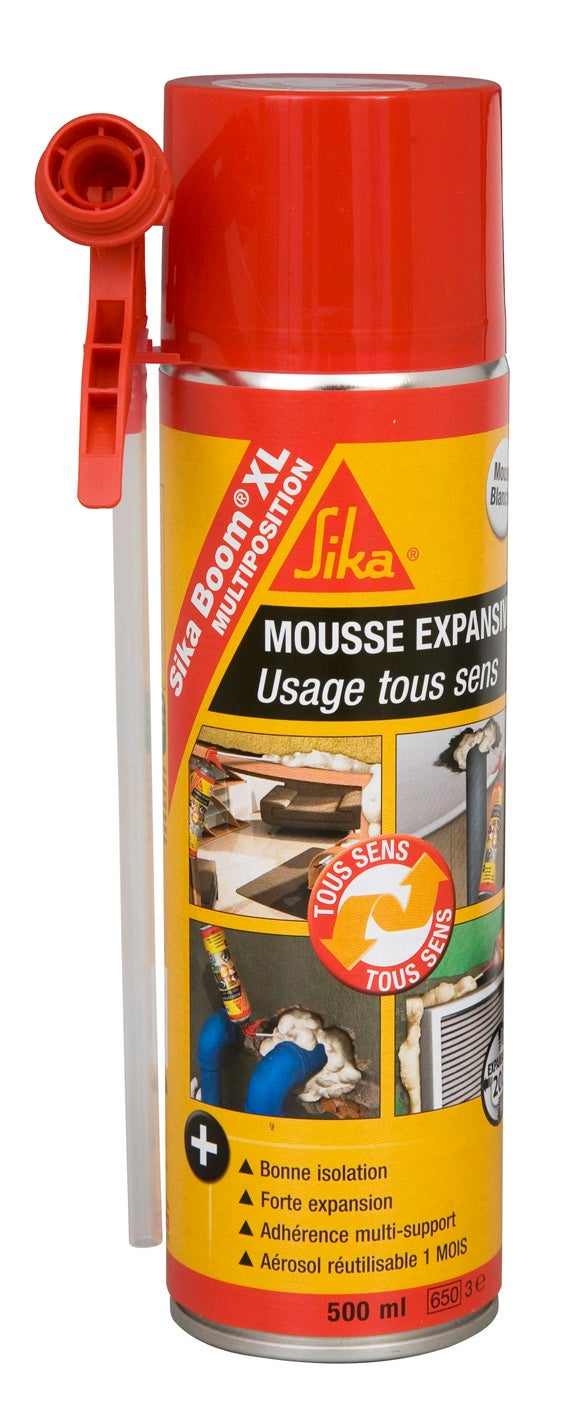 mousse expansive sikaboom xl multiposition sika 500 ml
