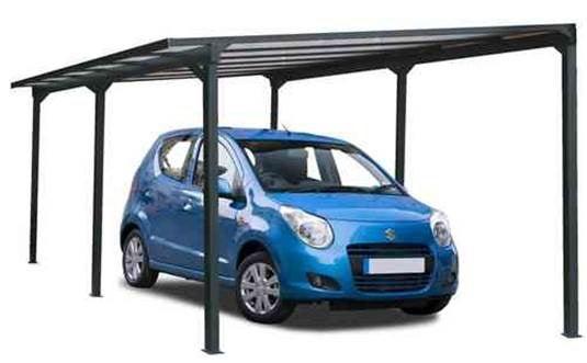 Carport Aluminium 1 Voiture H 234 X L 300 X P 500 Cm 15 M2