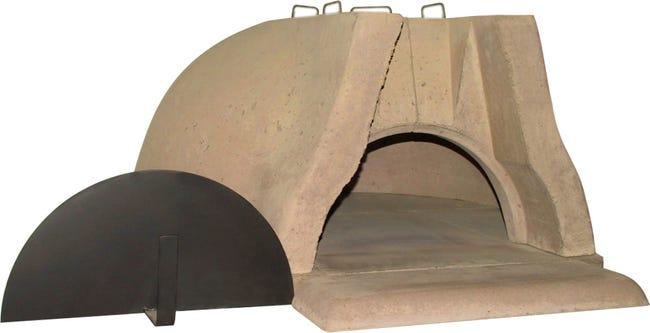 Four En Beton Refractaire Gris Rose Modele 2090 L 107 X L 127 X H 53 Cm Leroy Merlin