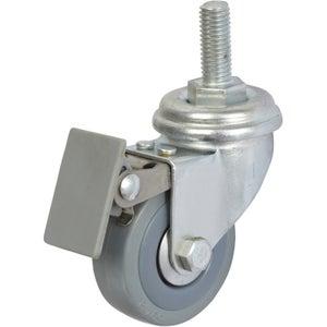 Image : Roulette pivotante à freins à tige filetée, Diam.50 mm
