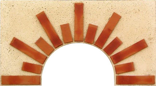 Facade En Pierre Reconstituee Terre Cuite Soleil N 1 L 90 X L 5 X H 50 Cm Leroy Merlin