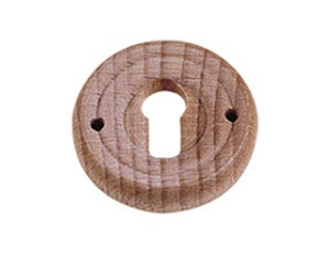 Entrée de clé Ronde en bois brut