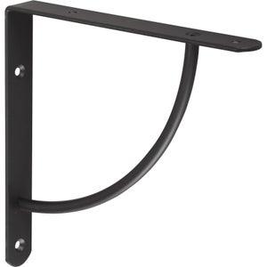 Image : Equerre Bi bop acier epoxy noir, H.18 x P.18 cm