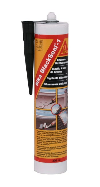 Mastic Sika Blackseal 300 Ml Noir Leroy Merlin