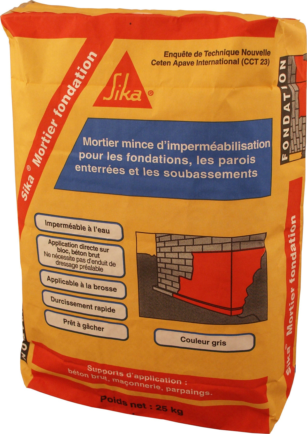 Mortier D Impermeabilisation Sika 25 Kg Leroy Merlin