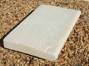 Margelle en pierre reconstituée ton pierre, L.50 x l.33 x Ep.5 cm