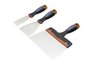 Image : Lot de 3 couteaux à enduire acier inoxydable 4, 8, 20 cm DEXTER
