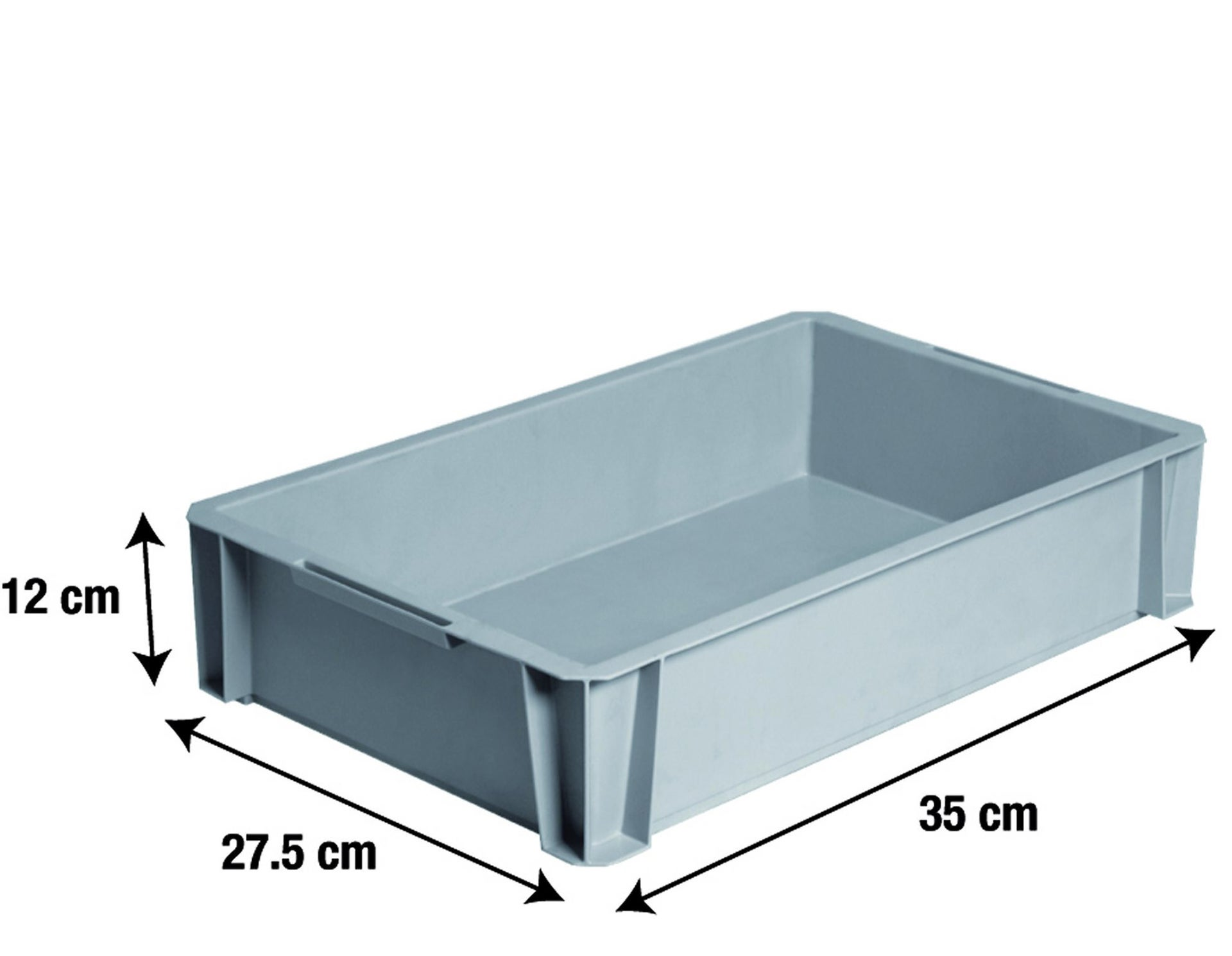 Bac De Manutention Stacking Box Plastique L35 X P275 X H12 Cm
