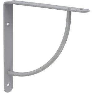 Image : Equerre Bi bop acier epoxy gris, H.18 x P.18 cm