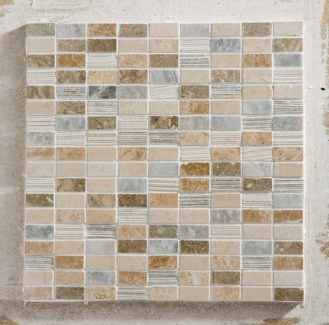 Mosaique Sol Et Mur Byzance Multicolore 1 5 X 3 2 Cm Leroy Merlin