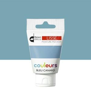 Image : Peinture pochoirs bleu canard satin MAISON DECO Peinture pochoir couleur 0.06 l