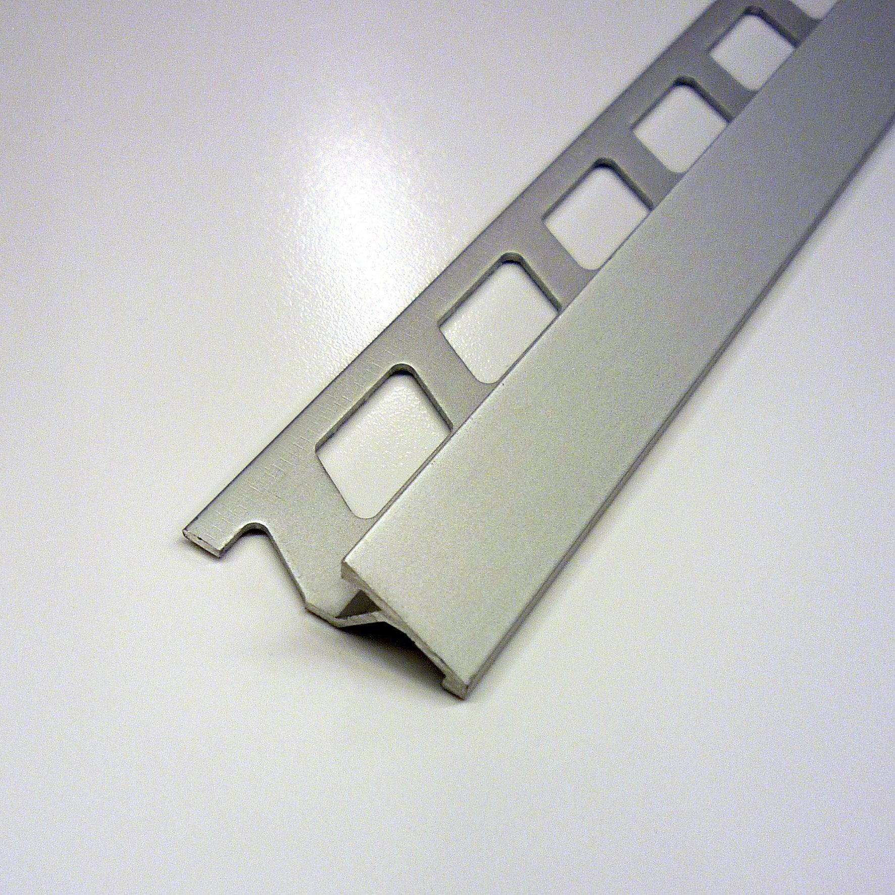 Transition carrelage sol, aluminium anodisé L.9.9 m x Ep.9 mm