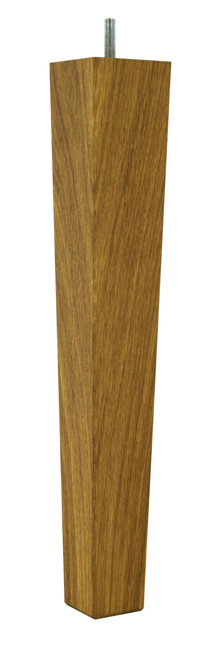 Pied De Table Basse Autres Fixe Chene Teinte Brun Marron 36 Cm
