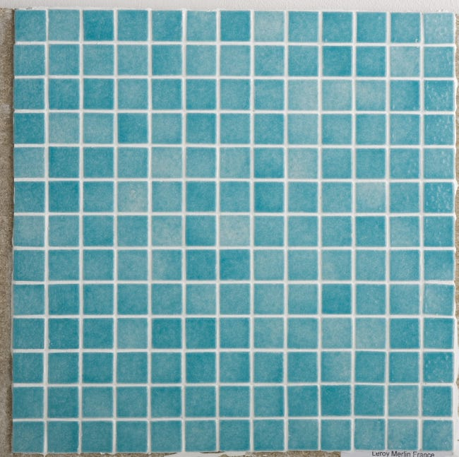 Mosaique Sol Et Mur Harmonie Bleu 2 5 X 2 5 Cm Leroy Merlin