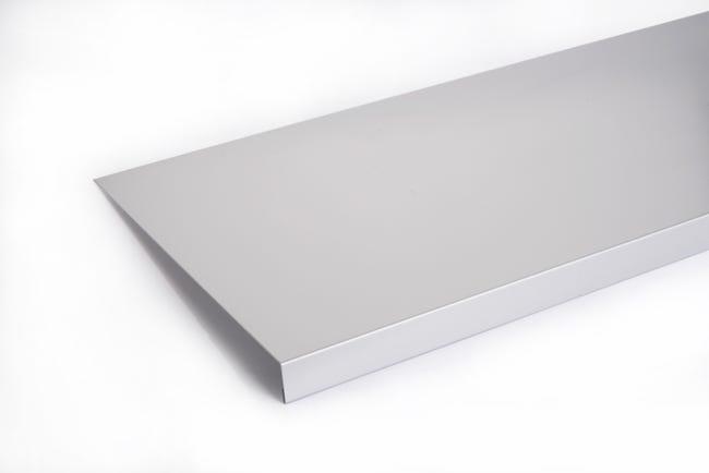 Appui De Fenetre Aluminium 30 X 250 Scover Plus Gris L 1 5 M Leroy Merlin