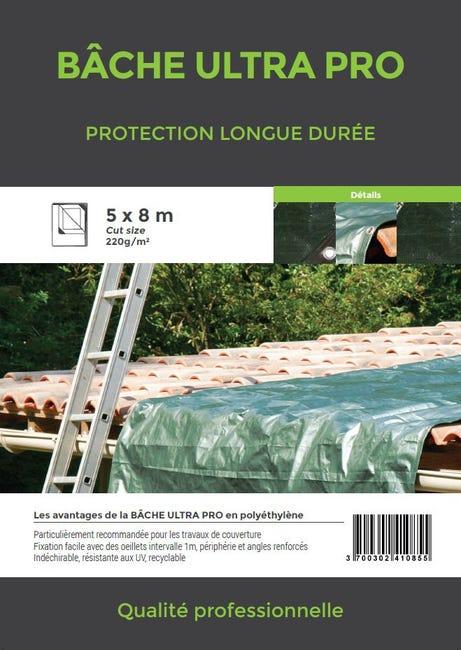 Bache De Protection En Pe Rectangulaire 500 X 800 Cm Vert Leroy Merlin
