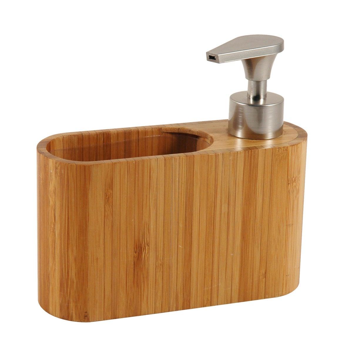 Distributeur a savon en bambou Tendance