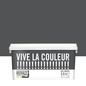 Image : Peinture gris ardoise satin VIVE LA COULEUR! 2.5 l