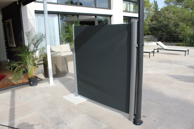 Paravent Pour Tonnelle Autoportante Wind Aluminium Gris Anthracite 48 M²