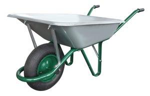 Image : Brouette roue gonflée acier galvanisé Classic ALTRAD, 100 l / 180 kg
