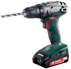 Perceuse sans fil METABO, 18 V 1.3 Ah, 2 batteries BS18