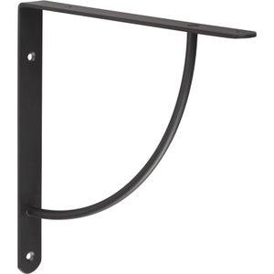 Image : Equerre Bi bop acier epoxy noir, H.23 x P.23 cm