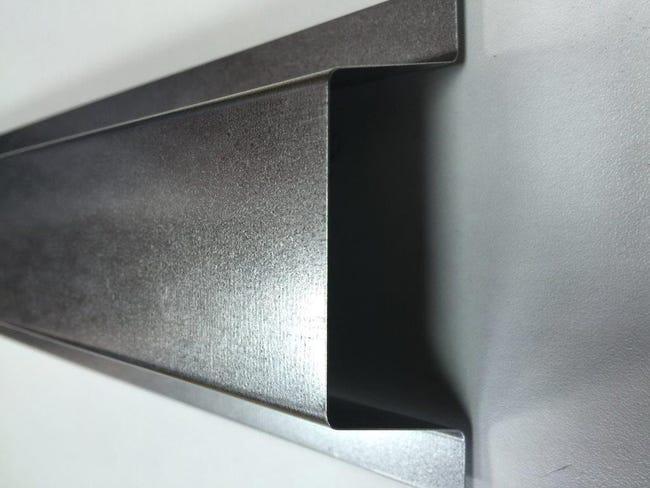 Goulotte Produit De Finition Cache Cable Ext 5 Cm Galva Gris Acier Galvanise Leroy Merlin