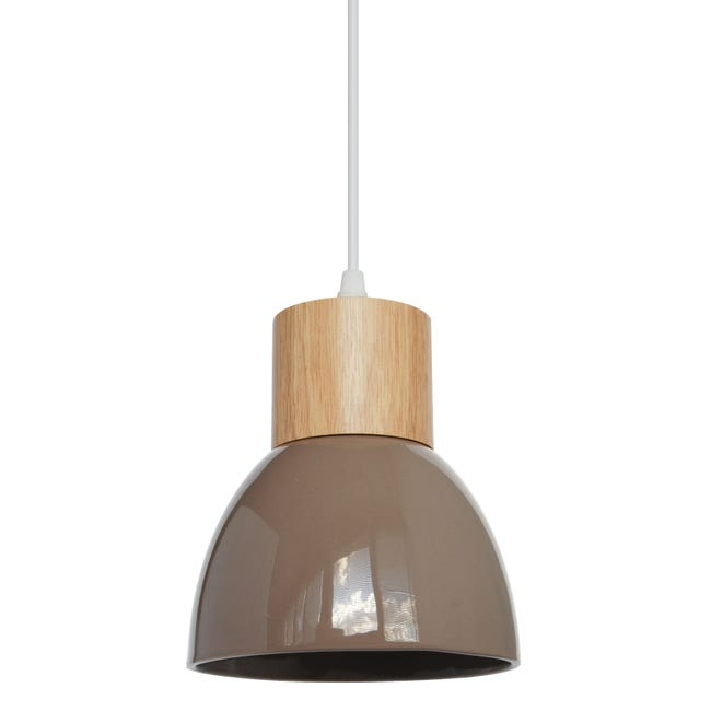 Suspension E14 Design Wilma Ceramique Chanvre 1 X 40 W Seynave Leroy Merlin
