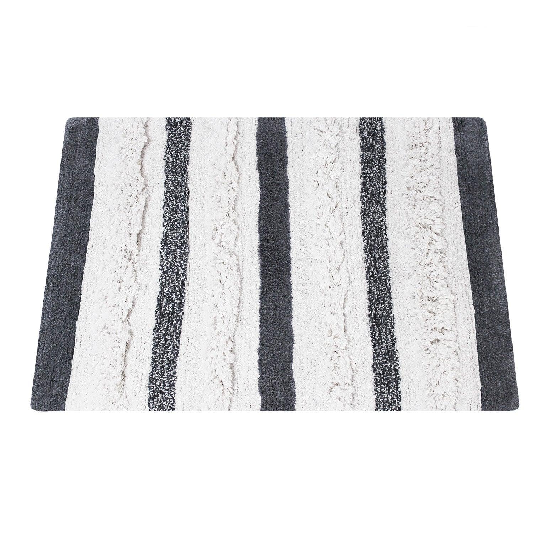 tapis de bain l 60 x l 90 cm noir et