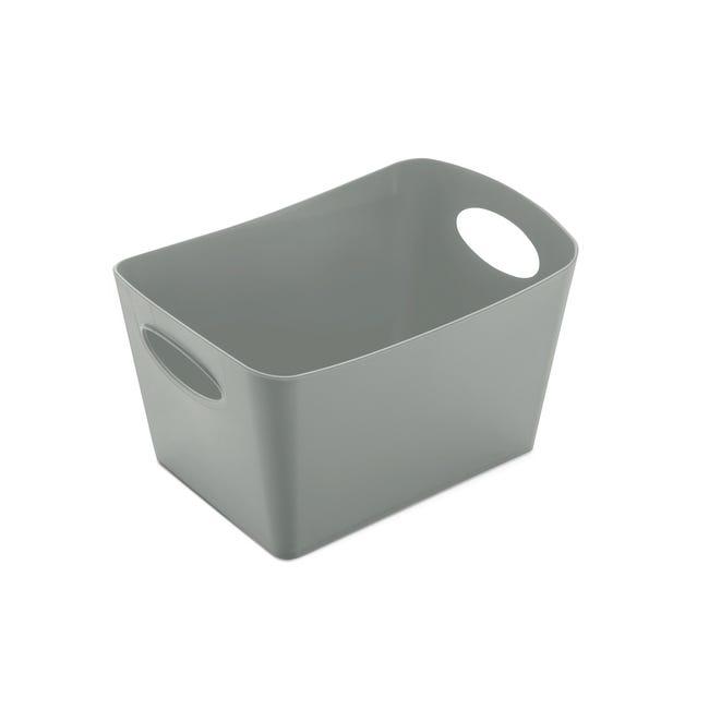 Boite De Rangement Nomade En Plastique Gris Gris N 1 Boxxx Leroy Merlin