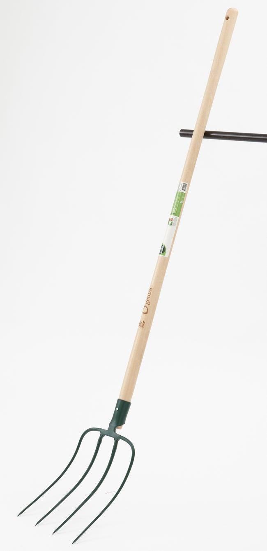 Fourche à fumier acier forgé GEOLIA manche bois L.130 cm