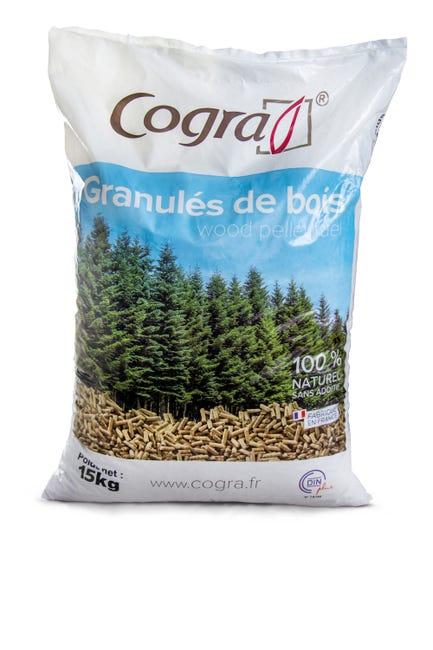 Granules De Bois Cogra En Sac 15 Kg Leroy Merlin