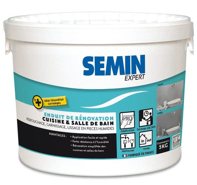 Enduit De Rebouchage Et Lissage Semin Cuisine Et Bain 5 Kg Pour Mur Interieur Leroy Merlin