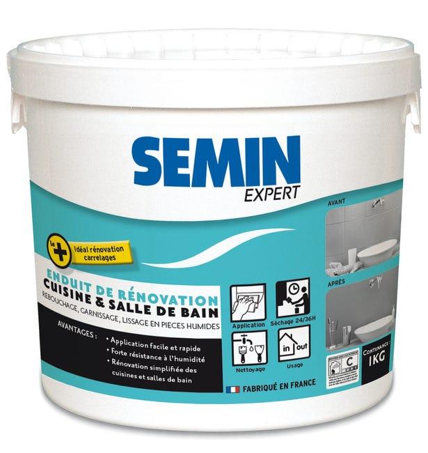 Enduit De Renovation Et Garnissant Semin Cuisine Et Bain 1kg Pour Mur Interieur Leroy Merlin