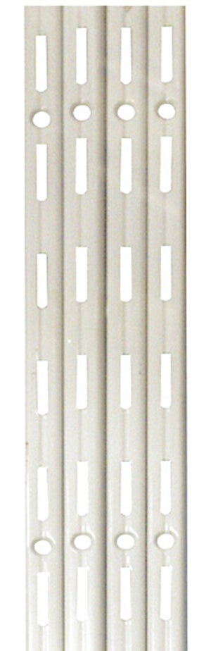 Lot de 4 crémaillères simples acier, H.100 cm entraxe 50 mm