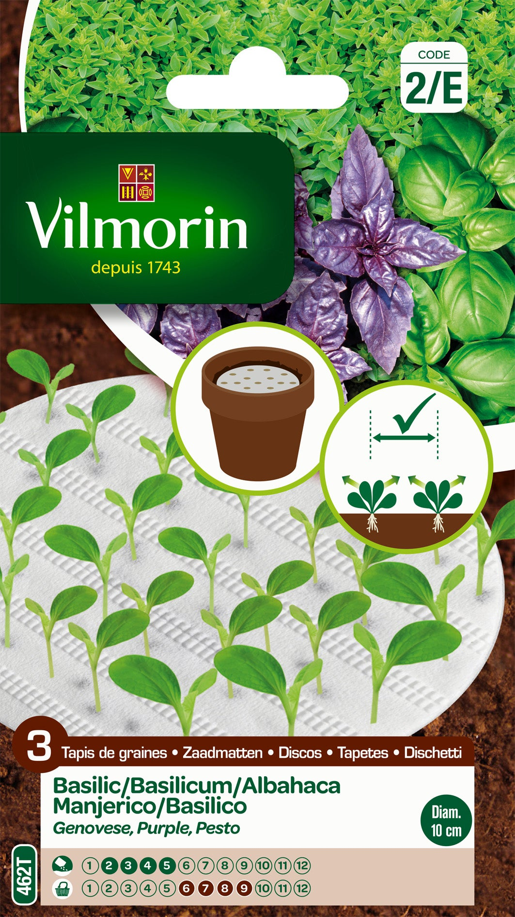 tapis de graines grand vert pesto pourpre vilmorin 5 g