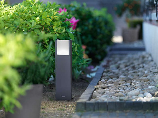 Borne Exterieure Arbour Led Integree 6 W 600 Lm Anthracite Philips Leroy Merlin