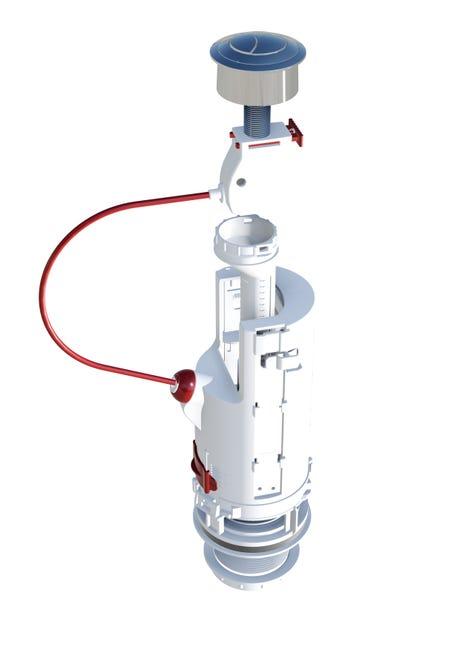Mecanisme Chasse D Eau A Cable Double Poussoir Dubourgel Leroy Merlin