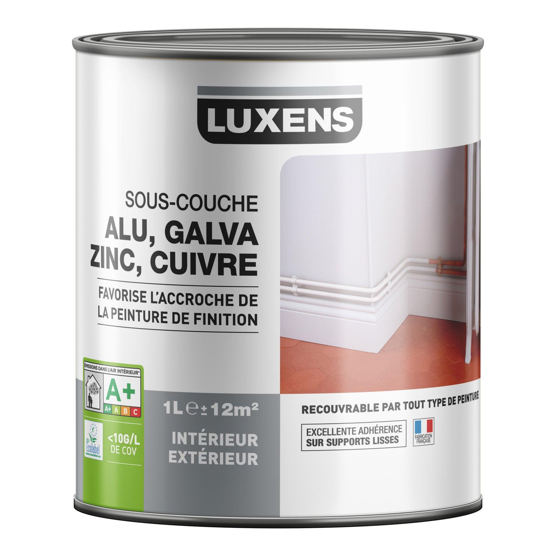 souscouche pvc aluminium galva luxens 1 l  leroy merlin