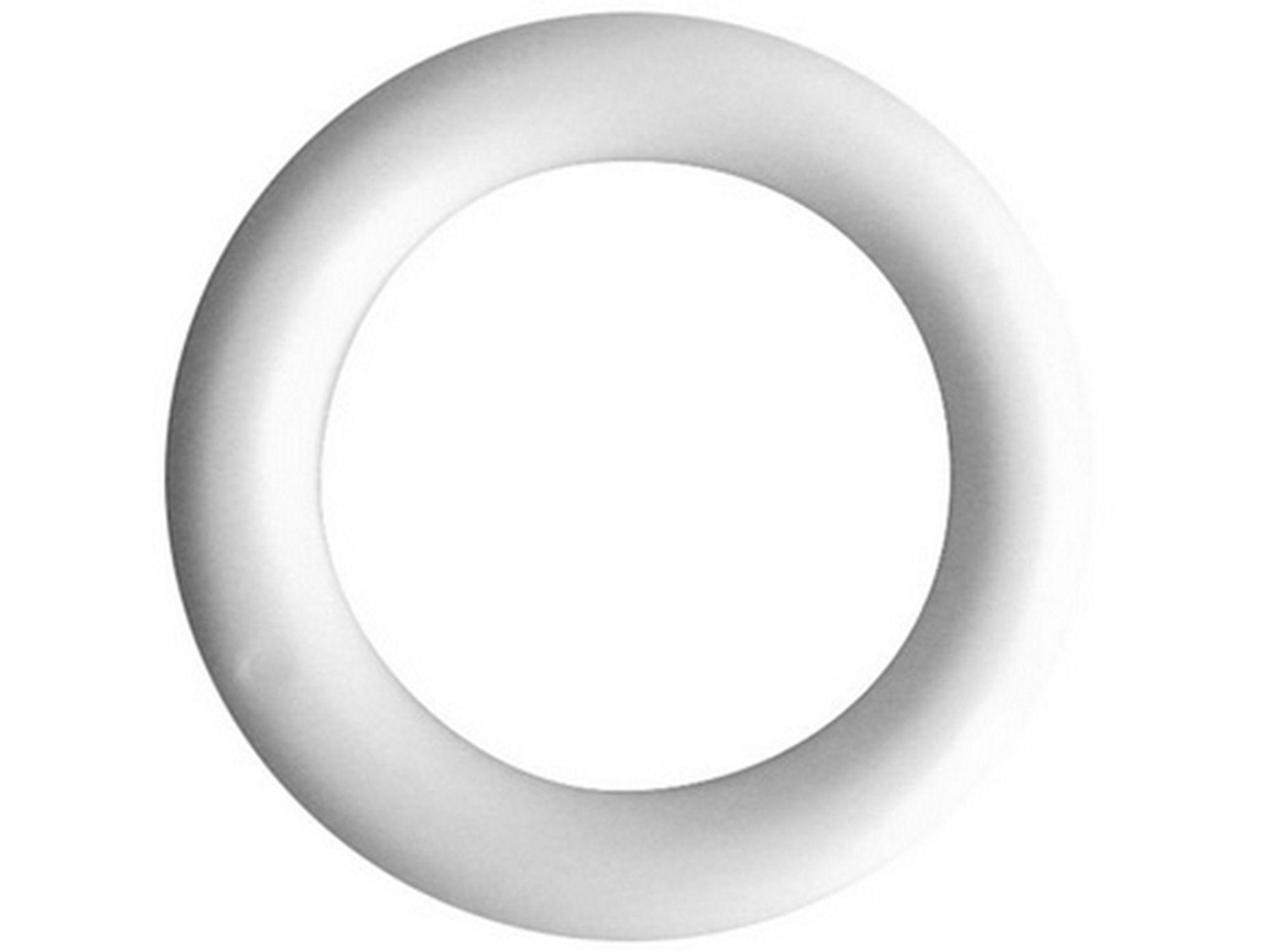 100 x anneaux de rideau plastique blanc nouveau 28mm
