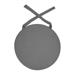 Galette de chaise Déperlante, gris l.38 x H.5 cm