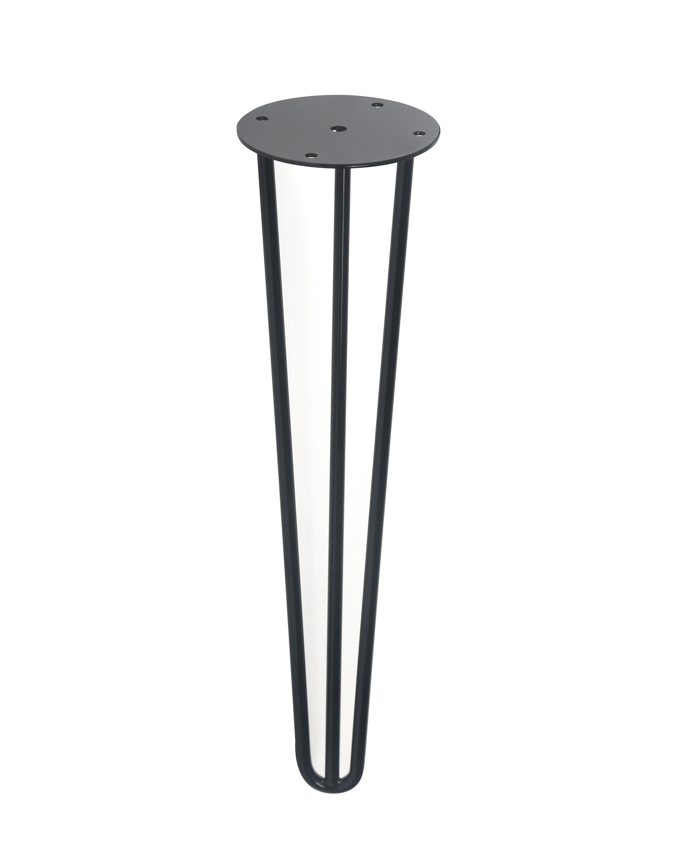 Pied Table Design Fixe Acier Epoxy Noir 40 Cm Leroy Merlin
