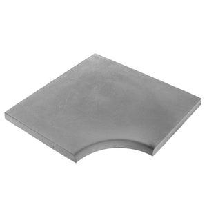 Margelle Oceane en pierre reconstituée gris foncé, L.50 x l.50 x Ep.3.4 cm